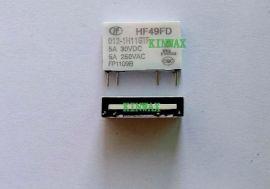 宏发继电器HF49FD/012-1H11T 电流:5A
