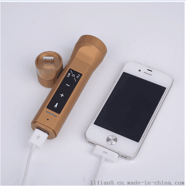 多能三合一蓝牙音箱充电宝 带led手电筒移动电源厂家直销员工福利礼品