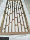 深圳鏡面管子玫瑰金焊接隔斷,拼接不鏽鋼花格屏風