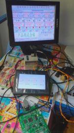 PLC連接觸摸屏與電視機,PLC連接觸摸屏和電視機同步顯示,PLC觸摸屏電視機系統開發