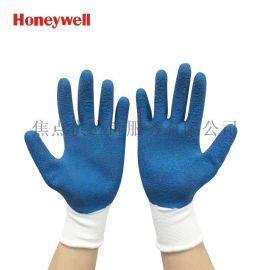 霍尼韦尔(Honeywell) 经济款乳胶涂层工作手套 蓝色/ 黄绿色 10码 2094138G2CN-10