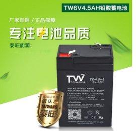 6V4.5AH蓄电池 阀控密封式蓄电池 各类电子称专用蓄电池量大价优