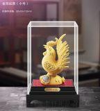 新款工藝品 絨沙金金雞擺件 保險促銷商務創意禮品