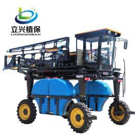 四轮驱动机械高架打药车 自走式玉米打药