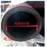 大口徑夾布噴砂膠管耐磨橡膠鋼絲管