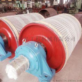 山东厂家专业生产耐磨皮带机陶瓷包胶滚筒