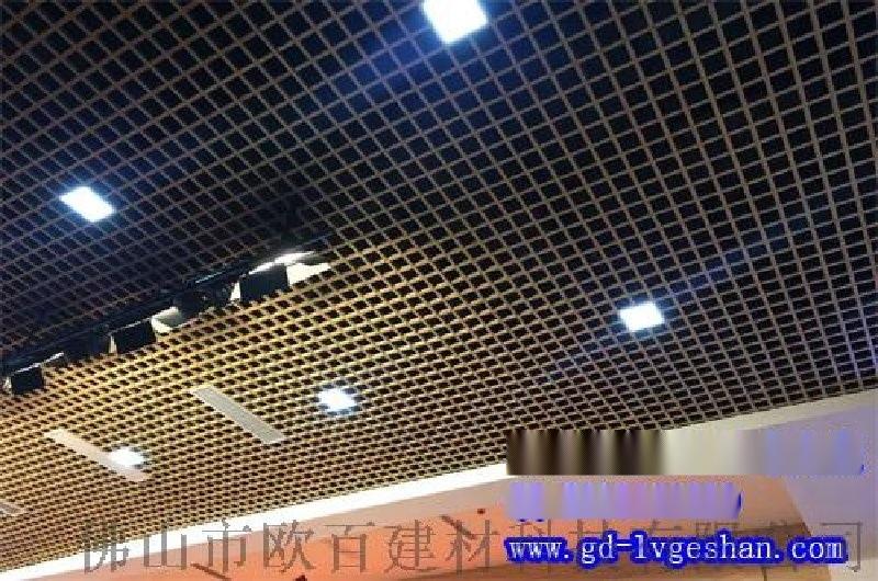 **铝格栅吊顶 三角形铝格栅价格 木纹铝合金格栅厂家