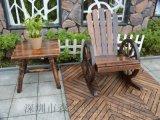 实木餐椅复古扶手休闲椅会议书房椅木质户外靠背木椅子