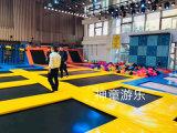 蹦床公园加盟 郑州神童游乐专业定制大型蹦床