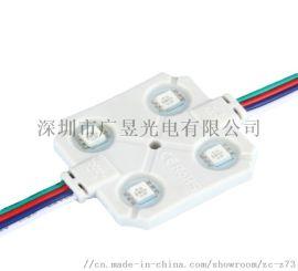 LED小功率4灯SMD5050RGB七彩注塑模组