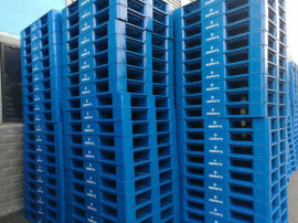 南岸塑料托盘价格1米x1米平板九脚仓库垫板塑胶栈板