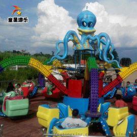 旋转大章鱼超好玩的公园游乐设备商丘童星深受好评