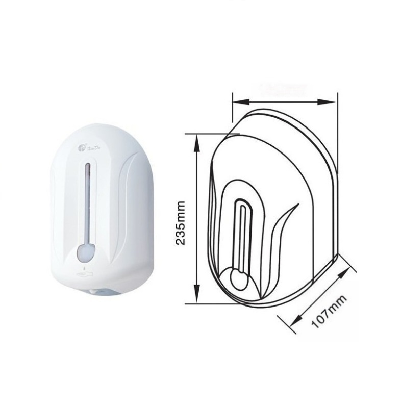 信达牌感应消毒液器洗手台墙上安装的自动洗手液器