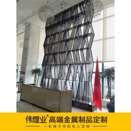 中式轉角鏤空屏風陳設|精致鋁合金鏤空雕花