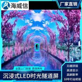 led时光隧道显示屏厂家全景体验全彩led电子屏