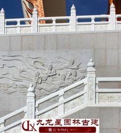 精美石雕桥护栏 寺院石栏杆价格