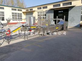 福建藕盒全自动加工生产线,藕盒专用电加热油炸机
