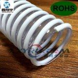 PVC透明塑筋螺旋增强缠绕软管,耐酸碱耐高温内壁平滑吸尘通风管63