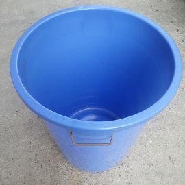 塑料圆桶, 蓝色料塑料桶 ,带盖塑料桶