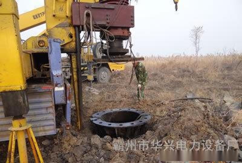 陕西西安35KV电力钢杆、高杆灯及电力钢杆打桩车改造