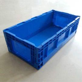 塑料长方形折叠箱,塑料PP折叠箱、塑料对折周转箱