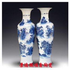 落地青花瓷器花瓶,景德镇陶瓷花瓶