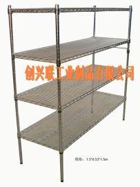 鍍鉻架置物架廚房架 家用整理收納移動貨架 防鏽貨架不鏽鋼