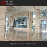厂家生产大型手绘瓷板画,酒店大厅装饰壁画定做