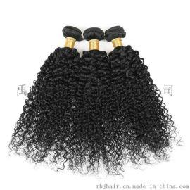 许昌瑞贝佳真人发欧美假发自然色发帘泡发kinky curly一件代发8寸至28寸