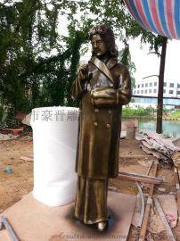 广州欧式仿铜玻璃钢雕塑女性人物摆设定做厂家