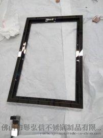星級酒櫃不鏽鋼相框  不鏽鋼畫框 裝飾不鏽鋼鏡櫃加工