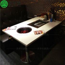 韩国汉釜宫烤尚宫合作家具厂 无烟自助烧烤用的餐桌椅