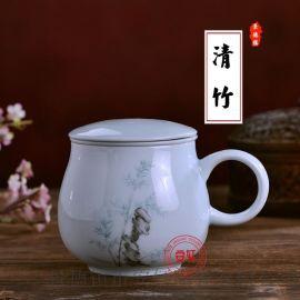 定做景德镇陶瓷茶杯加字厂家
