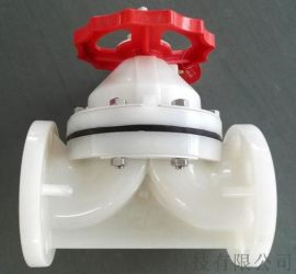 凯鑫PVDF塑胶法兰隔膜阀 pvd法兰隔膜阀