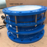 廠家直銷碳鋼藍色噴塑雙法蘭限位伸縮接頭