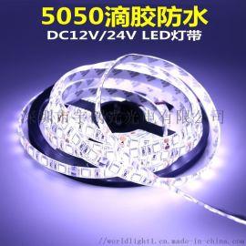12V 5050七彩变色RGB灯条,KTV装饰灯带