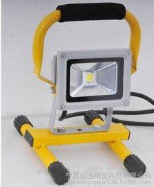 厂家直销LED工作灯 手提LED投光灯 LED手提移动工作灯 户外工作家用车充垂钓探照充电投光投射灯