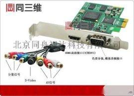 同三维T230E 1 单路HDMI DVI 色差分量 高清音视频采集卡 直录播