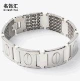 厂家货源 钛钢男士手链 磁性钛锗不锈钢保健抗疲劳防辐射情侣首饰