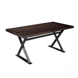 简约铁艺实木餐桌 热销咖啡厅奶茶店桌椅组合家具厂家众美德