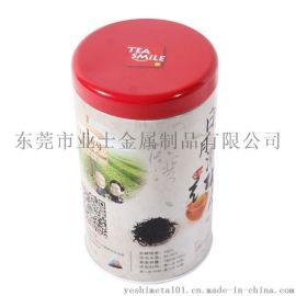 东莞厂家定制马口铁红茶包装罐 圆形红茶包装铁盒