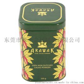 业士制罐80*80*118mm花茶铁罐,正方形茶叶罐,欧美花茶铁盒