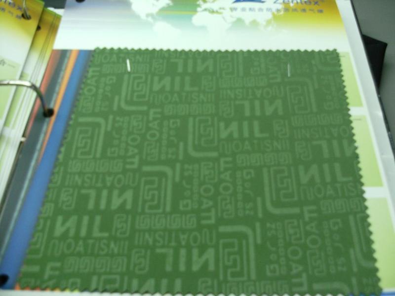 30D轧花针织布+TPU+印花毛巾布(ZH004)