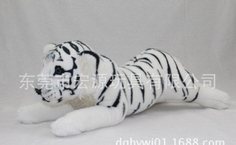 创意毛绒卡通老虎 毛绒玩具来图来样定制 定做白老虎黑条纹