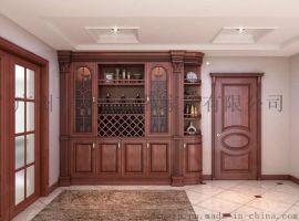 广州现代中式酒柜实木家具定制大智优品家居