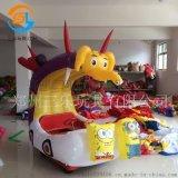 安徽淮北兒童充氣電瓶車炫彩燈光很迷人