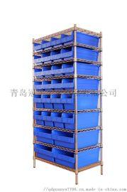 不锈钢钢丝7层零件盒式货架置物架厂家