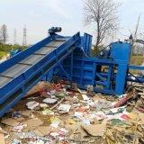 郓城大型铁皮卧式打包机    废轮胎卧式打包机厂家