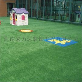 三亚编织人造草坪,校园人造草坪,海南宏利达专业施工