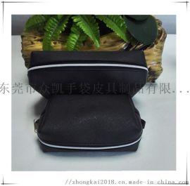 厂销新款黑色PU化妆包定制防水收纳袋手拿包